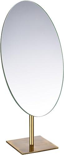 GURUN Tabletop Oval Vanity Makeup Mirror, 7×12 Antique Brass, Luxuries Mirror for Jeweller s