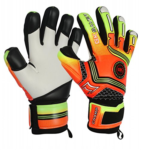 GK Saver Champ 01 Orange – Guantes de Portero con Corte Negativo, Color Naranja