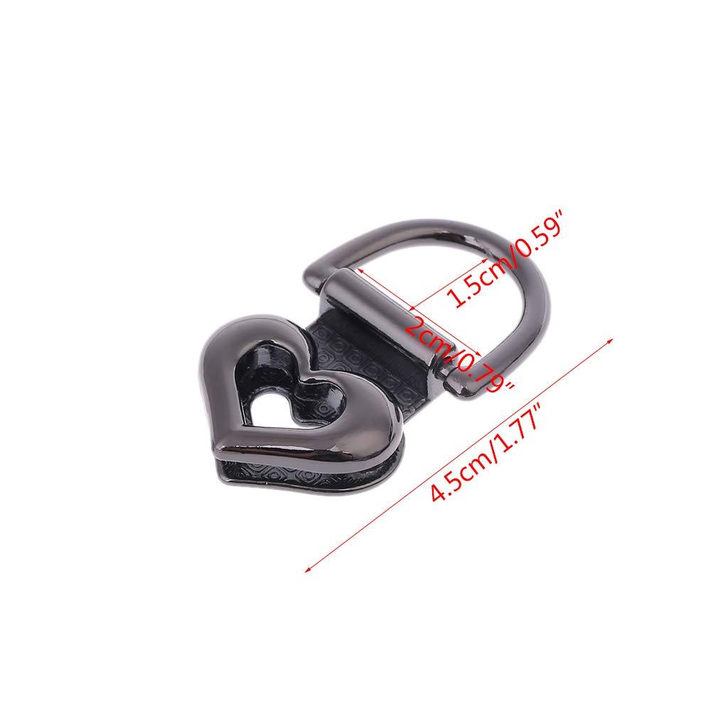 Twist Locks f/ür DIY Handtasche Schultertasche Geldb/örse Hardware Zubeh/ör gold 2 St/ück Metall Herz Form Verschluss Drehschloss Drehschloss