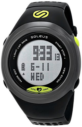 Soleus GPS Sole Running Watch Heart Rate Monitor - Grey/Black/Lime
