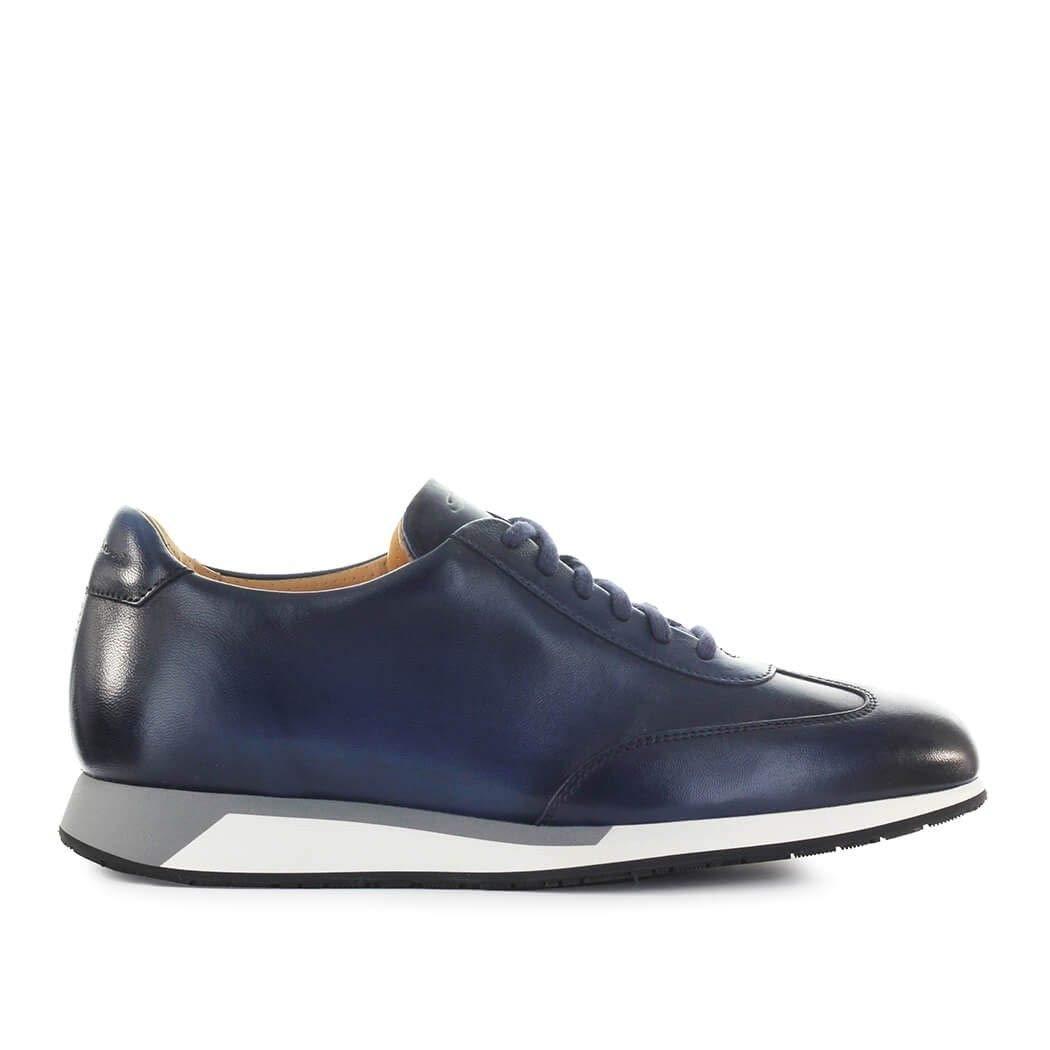 - Santoni Luxury Fashion Herren MBNV20745GBNMGOPU55 Blau Turnschuhe   Herbst Winter 19