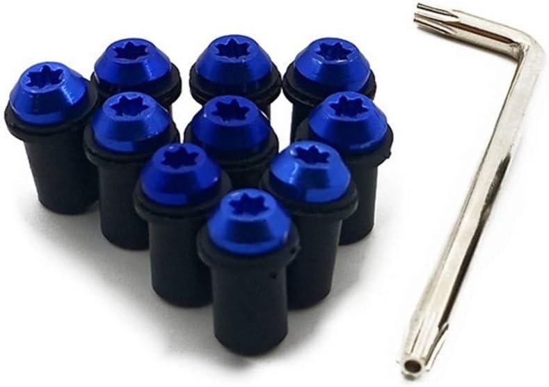 Vis de fixation de pare-brise M5 /Écrous Fastener pour Suzuki GSXR GSXR 600 750 1000 K1 K2 K3 K4 K5 K6 K7 K8 K9 K11 Moto bleu