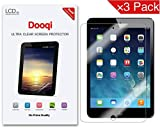 [3-pack]Ipad Mini Screen Protector, Dooqi Screen Protector for Ipad Mini 3, Ipad Mini 2 and Ipad Mini Retina Display Premium Hd Clear (Invisible)Easy install & Green healthy Product [Lifetime Warranty]