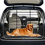 PawHut Expandable Metal Dog Partition Pet Car Barrier, Black, 33.5-inch - 59-inch Wide, 33.5-inch- 50.4-inchHigh