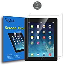 iPad Mini Screen Protector, HQTech 2-Pack Screen Protector Film for Apple iPad Mini 1/2/3 All Models, Bubble Free Installation, Anti-Fingerprint, Retail Package (HD Clear) - 3130