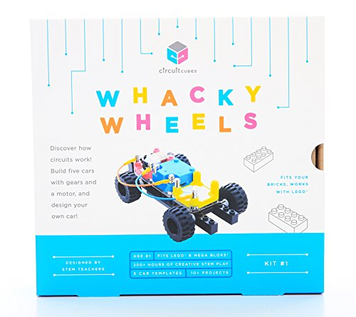 New launch Circuit Cubes Whacky Wheels Stem Toy Lego Suitable Digital Constructing Blocks Development Package Geared Motor Tasks Toy, Multi, 7″ x four""
