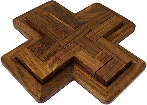 (SKAVIJ Wooden 9-Pieces Jigsaw Puzzle Brain Teasers Educational Games (7.2