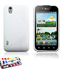 "Carcasa Flexible Ultra-Slim LG OPTIMUS BLACK P970 (VERSION WHITE) [""Le S"" Premium] [Blanco] de MUZZANO + ESTILETE y PAÑO MUZZANO REGALADOS - La Protección Antigolpes ULTIMA, ELEGANTE Y DURADERA para su LG OPTIMUS BLACK P970 (VERSION WHITE)"
