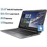 HP Pavilion 15t 15.6-Inch Touchscreen Laptop (6th Gen Intel Core i5-6200u Processor, 8GB DDR3L RAM, 1TB HDD, Windows 10), Natural Silver