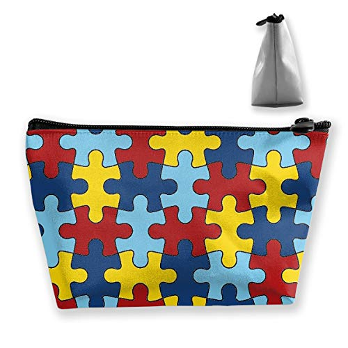 Makeup Bag Trapezoidal Storage Bag Jigsaw Puzzle Banner Portable Cosmetic Bag Ladies Mobile Travel Bag