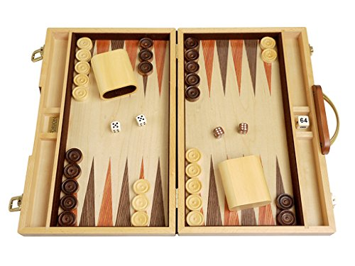 Orion Craft Walnut Wood Backgammon Set - 15