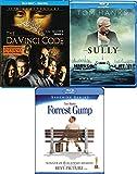 Tom Hanks 3-Movie Collection Sully Blu Ray The Da Vinci Code & Forrest Gump Bundle Set