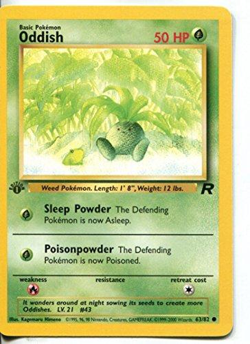 Pokemon Team Rocket 1st Edition Common Card #63/82 Oddish