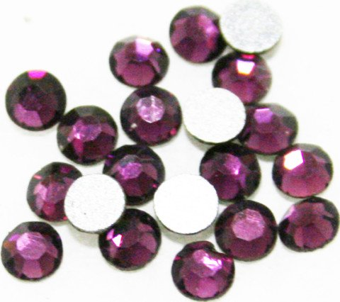 Rose Seche - Zink Color Czech Crystal Rhinestone Ss10 Amethyst 20Pc Cell Phone Embellishment