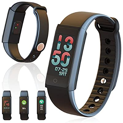 Indigi Smart Watch Bluetooth 4.0 Design Fitness Tracker For iOS and Android
