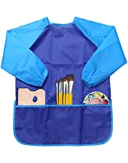 NEWSTYLE Children's Art Smock - Long Sleeve Waterproof Kids Painting Apron for School Classroom and Kitchen