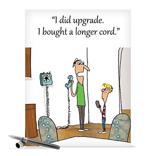 J0245 Jumbo Funny Father's Day Card: Longer Cord With Envelope (Extra Large Version: 8.5'' x 11'')
