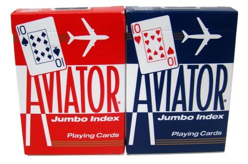 12 Decks Aviator Cards Red/Blue - Poker Size, Regular Index by Brybelly by Brybelly