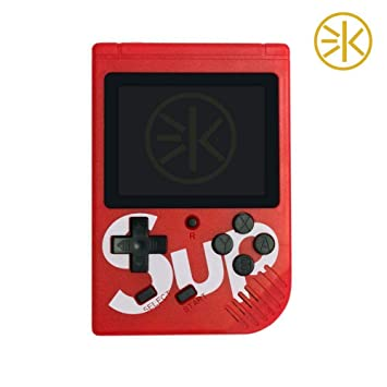 3Keys Handheld Game Console,Classic Retro Video Gaming Player Colorful LCD Screen USB Rechargeable Portable Game Console with 400 Classic Old Games Best Toy Gift for Kids