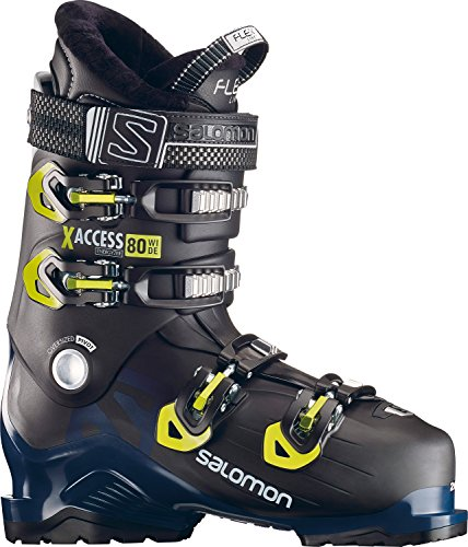 Salomon X-Access 80 Wide Ski Boots 2019-29.5/Black-Petrol Blue-Acid Green