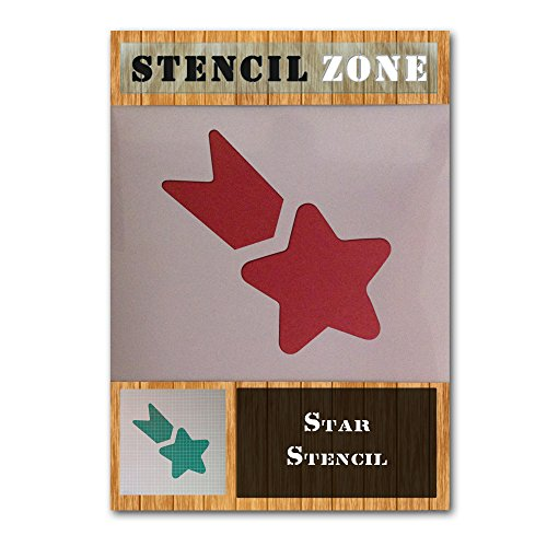 - Shooting Star Shape Mylar Airbrush Painting Wall Art Stencil Five (A1 Size Stencil - XLarge)