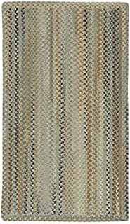 "product image for Capel Melange Beige 3' 0"" x 5' 0"" Vertical Stripe Rectangle Braided Rug"