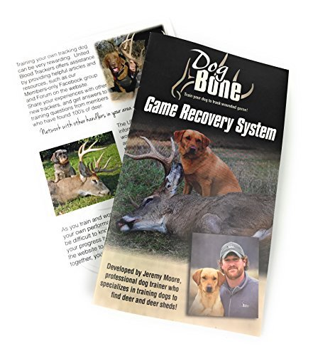 Dog Bone Game Recovery Kit (4-Piece Set) Complete Training and Wounded Game  Tracking System | Blood Trail Scent, Drag Line, Real Hide, EZ Clip