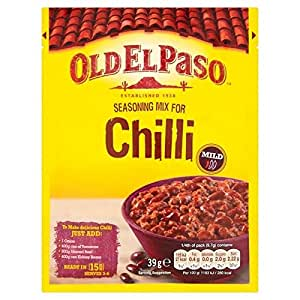 Old El Paso Chilli Con Carne Seasoning Mix 39g (Pack of 2)