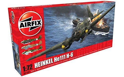 Airfix Heinkel He III H-6 1:72 Military Aircraft Plastic Model Kit ()