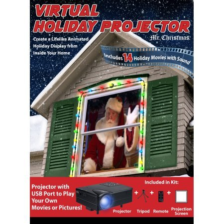 Wonderland Window Virtual Holiday Movie Projector 14 Holiday Movies Your - Santa In Rosa Stores