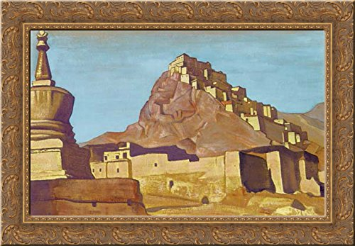 Sanctuaries and Citadels 24x18 Gold Ornate Wood Framed Canvas Art by Nicholas Roerich