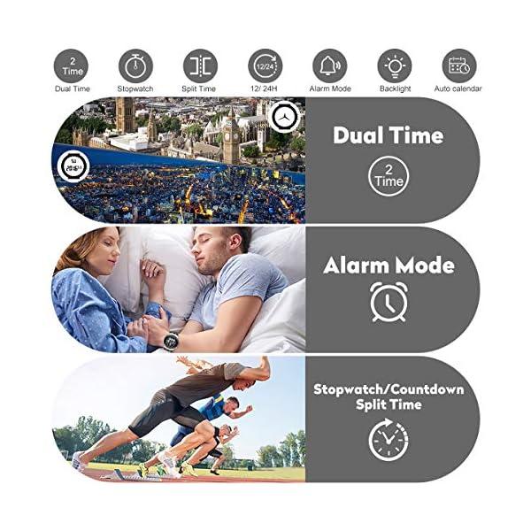 Montres de Sport pour Homme étanche, chronomètre, Date, Alarme, Lumineux, numérique, analogique, Militaire, avec…
