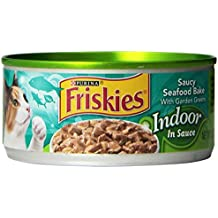 Friskies Wet Cat Food, Indoor, Saucy Seafood Bake, 5.5-Ounce Can by Purina Friskies