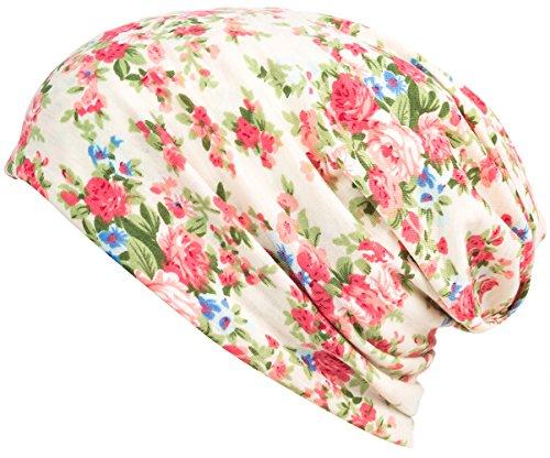 HONENNA Printed Turban Headband Chemo Cap Cotton Soft Sleep Beanie (Begin) (Best Material For Caps)