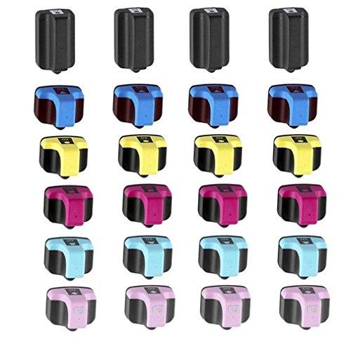 4bk 4 Light - QINK 4 Set Of 6PK(4BK 4C 4M 4Y 4LC 4LM) 02 Compatible Inkjet Cartridge Replacement for 02 02 02XL Use For Photosmart C6180 C5280 C6280 C7250