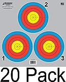 80 cm paper target - Archery 5 SPOT & 3 SPOT Vegas Targets by Longbow 8, 20, 50 & 200 Packs (3 Spot (20 Pack))