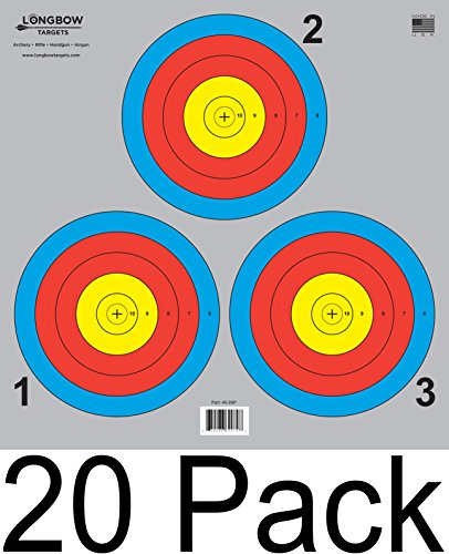 Archery 5 SPOT & 3 SPOT Vegas Targets by Longbow 8, 20, 50 & 200 Packs