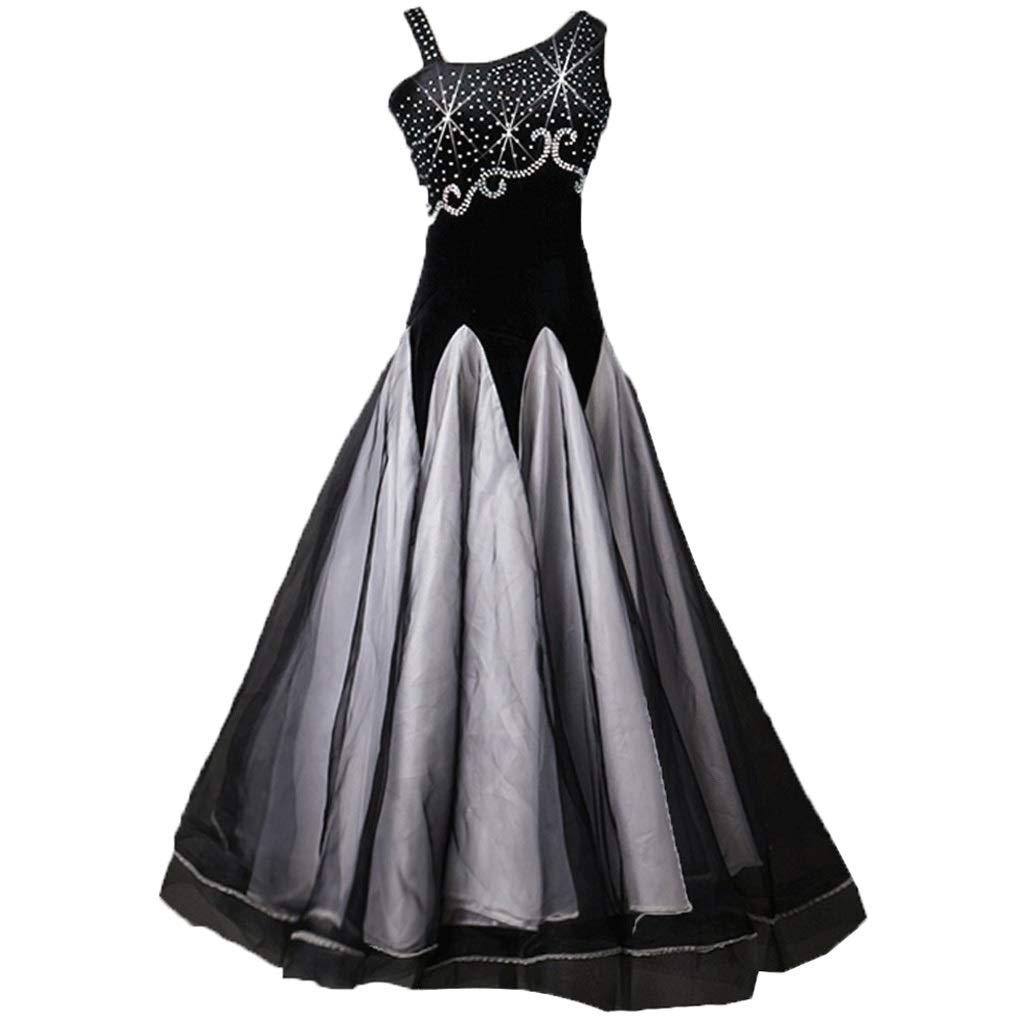 最新 女性用社交ダンスドレスラインストーンコンペティションドレスモダンワルツタンゴスムース社交ダンス衣装 B07QRZY68G B07QRZY68G XXL|ブラック ブラック ブラック XXL XXL, リブラ:a72d81c2 --- a0267596.xsph.ru