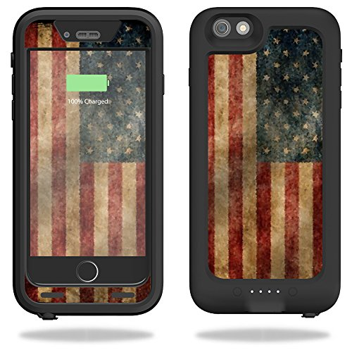 MightySkins Protective Vinyl Skin Decal Compatible with Mophie Juice Pack H2Pro Compatible with iPhone 6 Plus/6s Plus Case wrap Cover Sticker Skins Vintage Flag