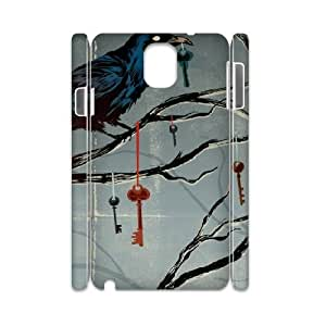 3D Samsung Galaxy Note 3 Case,Noah MacMillan Dark Crow Halloween Hard Shell Back Case for White Samsung Galaxy Note 3