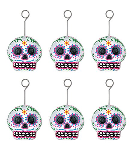 beistle-00925-day-of-the-dead-male-photo-balloon-holder-6-pieces-per-package