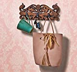 Wooden Decorative Wall Hook Key Holders Organizer Hanger Rack Coat Hangers For Office & Home Decor - Mango wood (2)