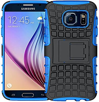 K-Xiang Samsung Galaxy S6 Case, (Armor Series) Heavy Duty Dual Layer Shockproof Silicone Phone Protective Case TPU Hybrid Kickstand Cover for Samsung ...