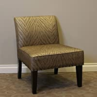 4D Concepts Belinda Accent Chair in Metallic Woven Linen