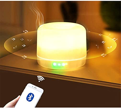 500ml Essential Oil Diffuser With Wireless Bluetooth Speaker