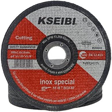 KSEIBI 切断砥石 100x16x1.0mm 切断砥石 鉄工用50枚 646002 ステンレス用切断砥石