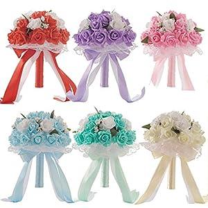 meiguiyuan 6 Colors Bouquet Hotsale Artificial Foam Flowers Foam Roses for Women Wedding Arrangement Bridal Bouquet Wedding Bouquets 90