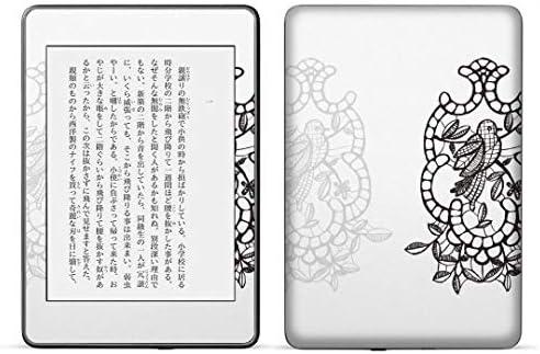 igsticker kindle paperwhite 第4世代 専用スキンシール キンドル ペーパーホワイト タブレット 電子書籍 裏表2枚セット カバー 保護 フィルム ステッカー 015283 鳥 花 ステンドグラス 絵