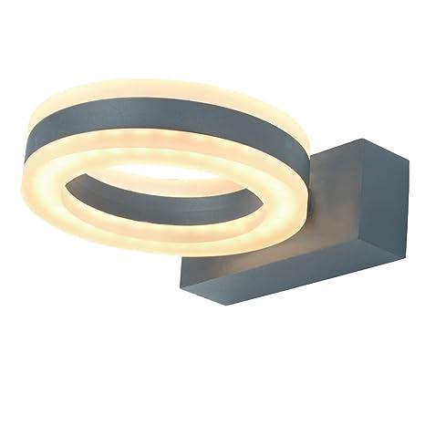 Laside Led Außenlampe Aussenlampe 12w 730lm Aluminium Rund