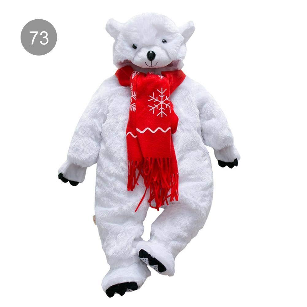 Unisex-baby Baby Romper Polar Bear Animal Shape Jumpsuit Cartoon Hoodie Footies Bodysuit Snowsuit Outfit Romper Costume